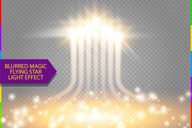 Abstract energy light effect. rocket launch with sparkling starting place. soaring firework with sparks and blur trail