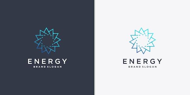 創造的な線画スタイルのベクトルパート2と抽象的なエネルギーロゴ