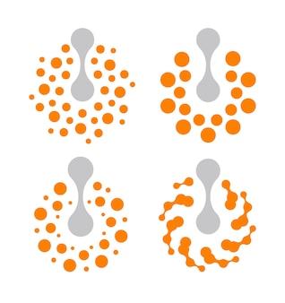 Abstract energy power button vector icon set, innovative technology concept vector illustration.