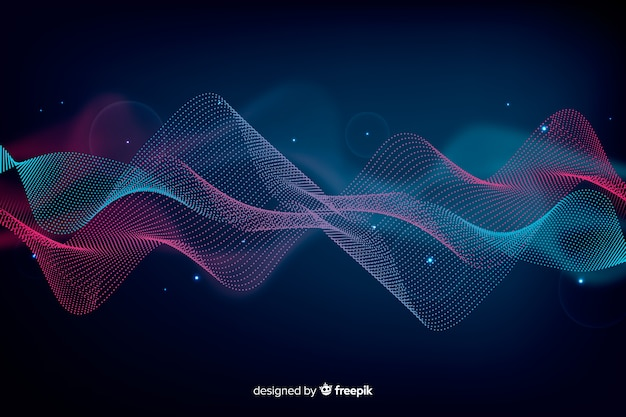 Abstract equalizer particle waves background