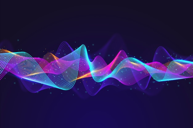 Abstract equalizer particles wave background