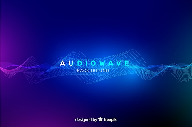 Abstract equalizer waves background