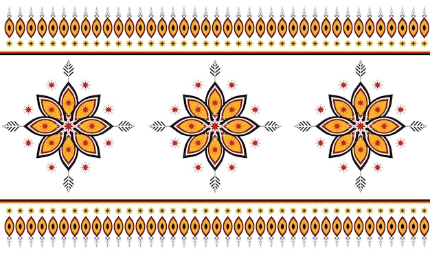Abstract ethnic geometric pattern design for background or wallpaper.