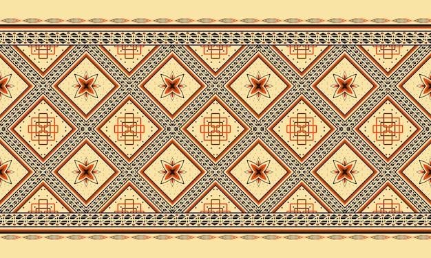 배경 또는 벽지에 대한 추상 민족 기하학적 패턴 디자인.