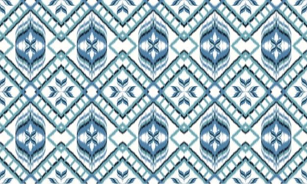 Абстрактный фон модель шеврон этнических икат. , ковер, обои, одежда, упаковка, батик, ткань, векторные иллюстрации. стиль вышивки. Premium векторы