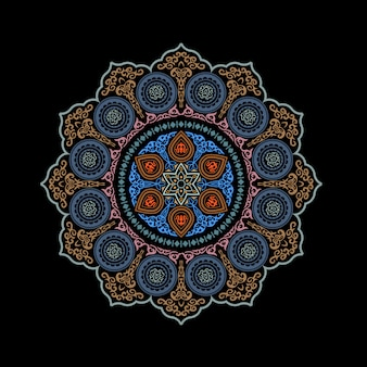 Abstract ethnic round ornamental
