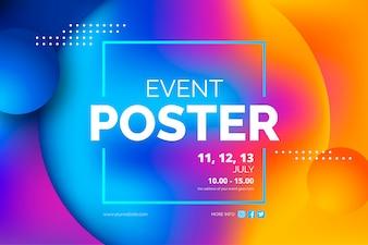 Шаблон постера абстрактного события