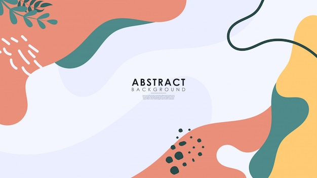 Abstract exotic collection of trendy background