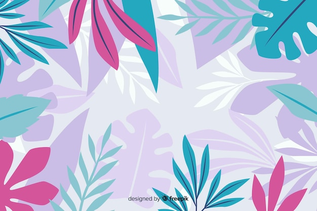 Abstract exotic floral background