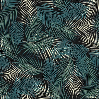 Abstract exotic plant seamless pattern.