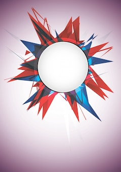 Abstract explosion banner. vector illustration