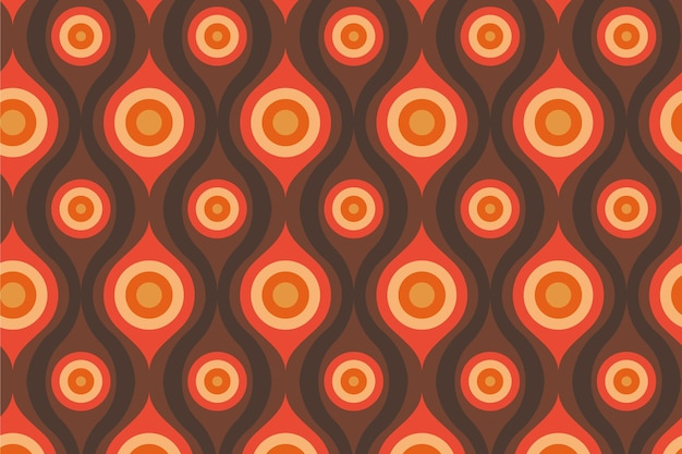Abstract eyes geometric groovy seamless pattern