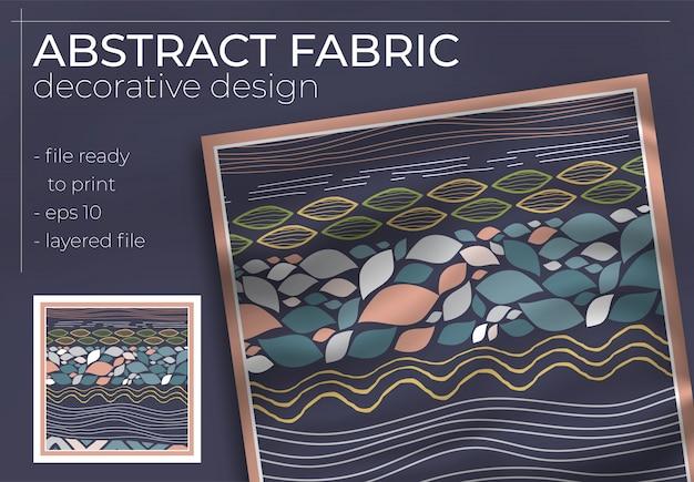 Аннотация ткань декоративный дизайн с реалистичным макет для полиграфического производства. хиджаб, шарф, подушка и т. д.