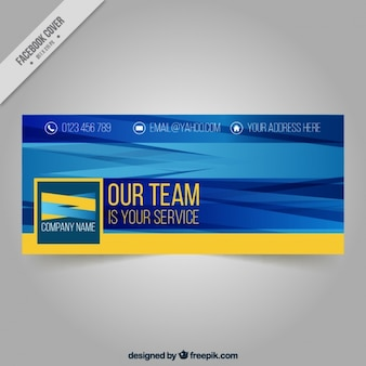 Abstract facebook cover for business
