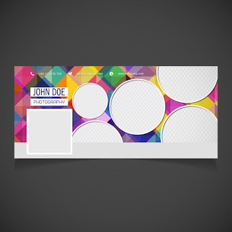 Abstract facebook cover with circles