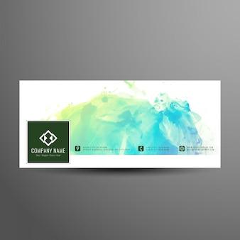 Abstract facebook timeline elegant banner template