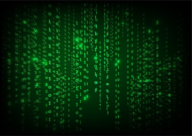 Abstract falling binary code in the matrix style