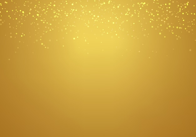 Abstract falling golden glitter gold gradient background
