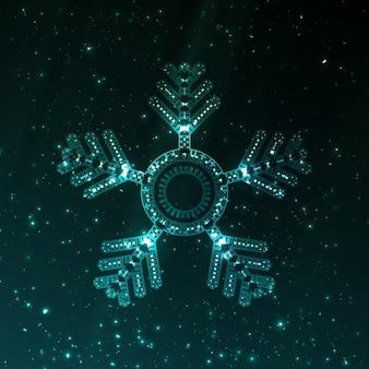 Abstract fantasy snowflake illustration
