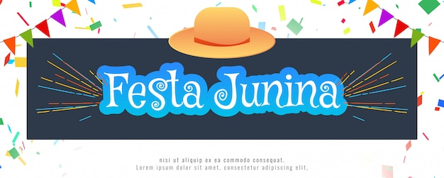 Abstract festa junina festival  banner