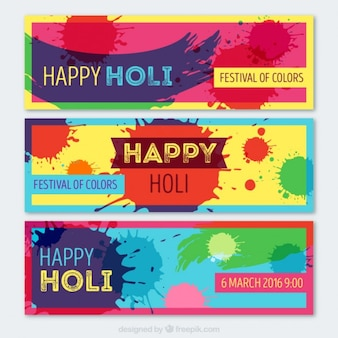 Abstract festival of colors banners