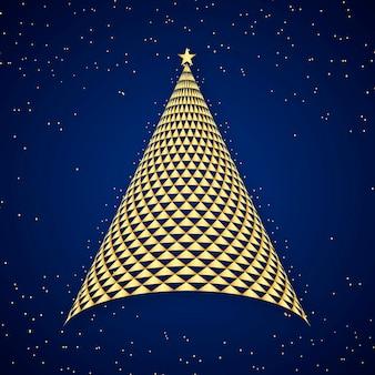 抽象的なお祭りのクリスマスツリー