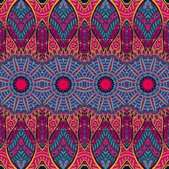 抽象的なお祭りカラフルなグランジベクトル民族部族パターン