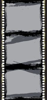 Abstract film strip frame