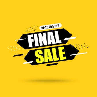 Abstract final sale banner