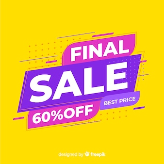 Abstract final sale promotion banner