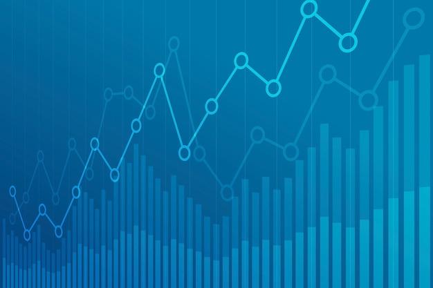 Abstract financial chart