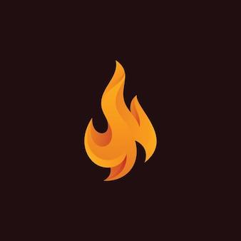 Абстрактный логотип пламени огня