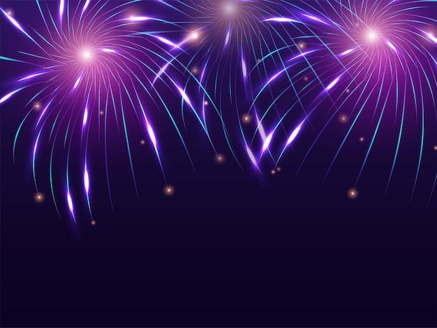 Абстрактный фон фейерверк для празднования дивали или нового года. Premium векторы