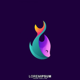 Abstract fish premium logo