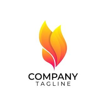 Abstract flame organic logo design