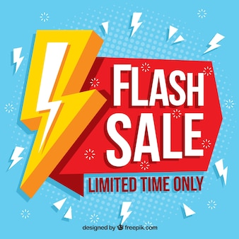Abstract flash sale background