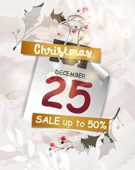 추상 플래시 판매 크리스마스 배경