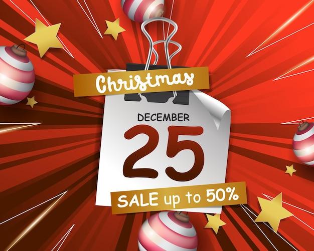 크리스마스 배경에 대한 추상 플래시 판매 깜짝