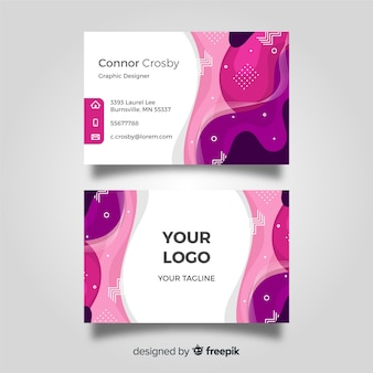 Abstract flat business card template