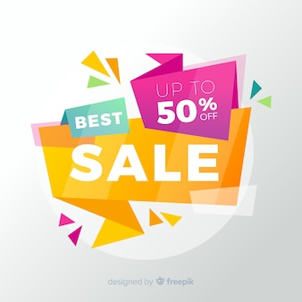 Abstract flat colorful sales background