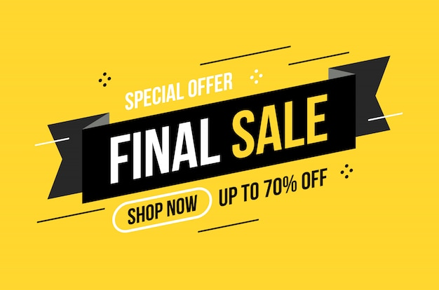 Abstract flat design final sale discount banner
