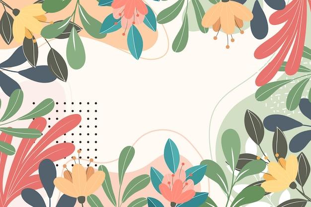 Astratto sfondo floreale piatto