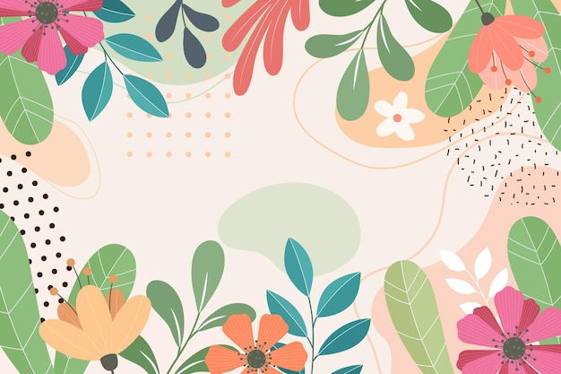 Abstract flat floral background