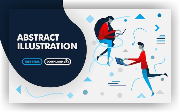 Abstract flat illustration background