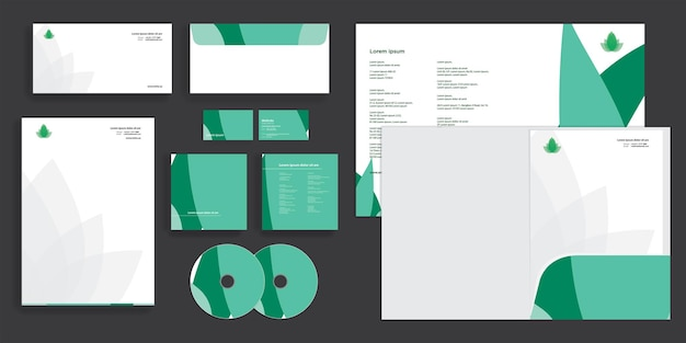 Абстрактный плоские листья современный корпоративный бизнес стационарный стиль