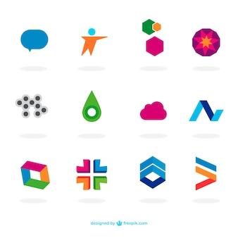 Абстрактный плоские логотипы шаблон