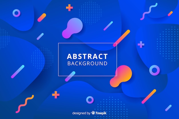 Abstract flat rounded shape background