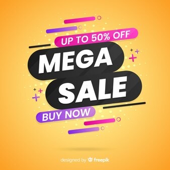 Abstract flat sale promotion background