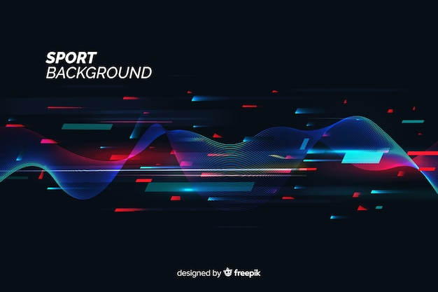 Abstract flat shapes sport background