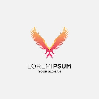 Абстрактный феникс логотип